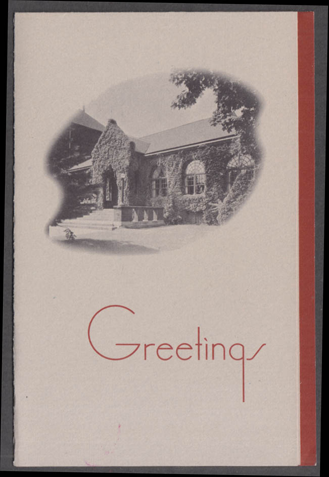 Worcester Academy Birthday Card from all on the Hilltop ca 1950s
