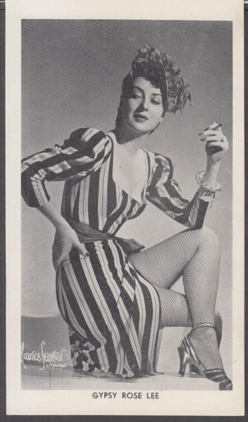 Stripper actress Gypsy Rose Lee fan club print 1940s Maurice Seymour