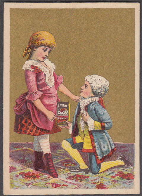 Lavine Soap for Washing Hartford Chemical CT trade card 1880s 2 kids