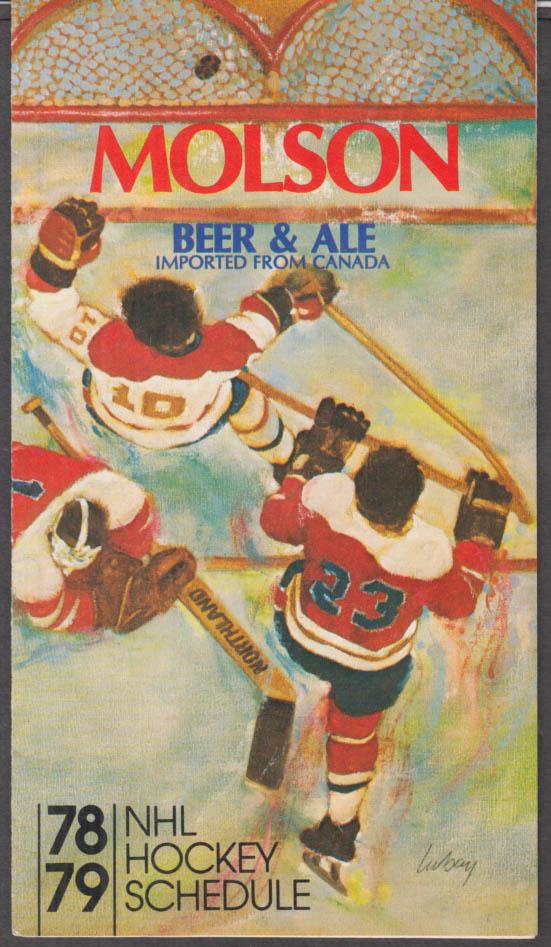 Molson Beer & Ale NHL Hockey Schedule 1978-1979