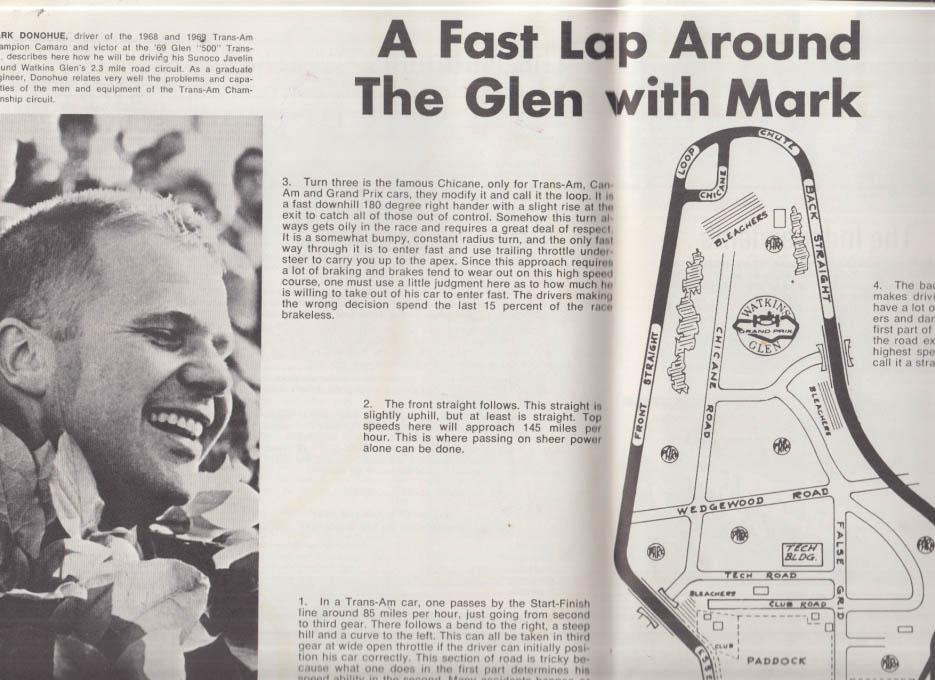 National Trans-Am Championships SCCA Watkins Glen Grand Prix program 1970