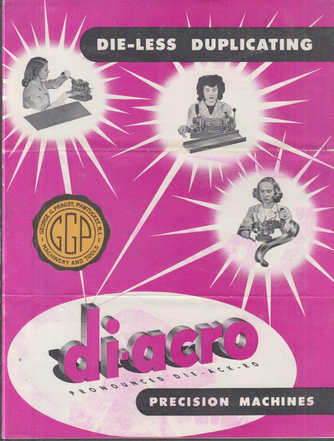 Di-Acro Die-Less Duplicating Precision Machines Catalog 1948