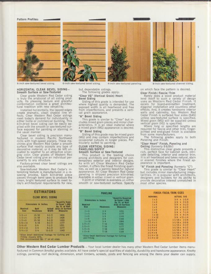 Western Red Cedar Grade Guide folder 1967-1968