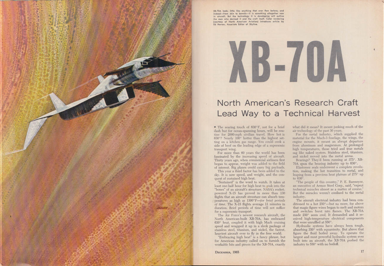 ENGINEERING OPPORTUNITIES 12 1965 North American XB-70A supersonic bomber