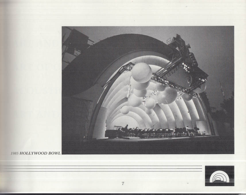 Hollywood Bowl Museum A Vision for Music brochure 1984 SIGNED by Curator