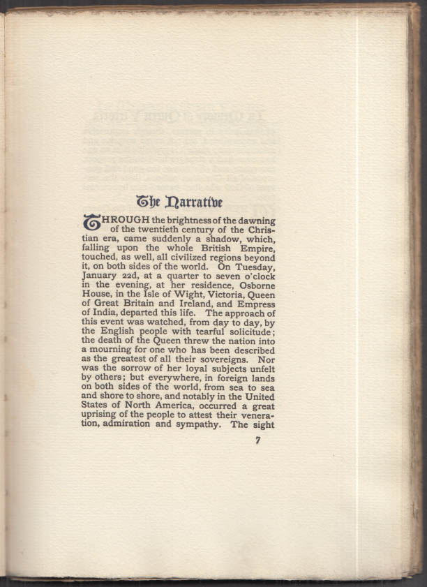 Services in Memory of Queen Victoria program 1901 Church Missions House NYC