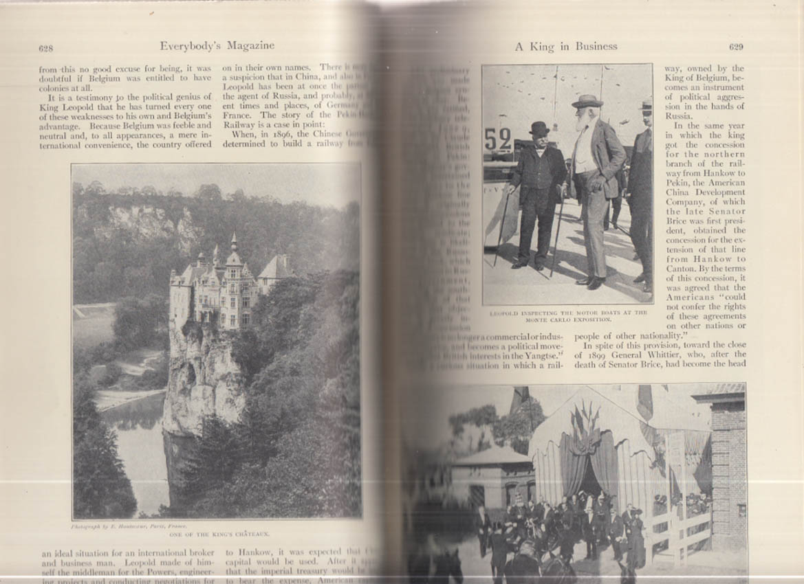 EVERYBODY'S MAGAZINE 11 1906 Jack London King Leopold II Sporting Champs
