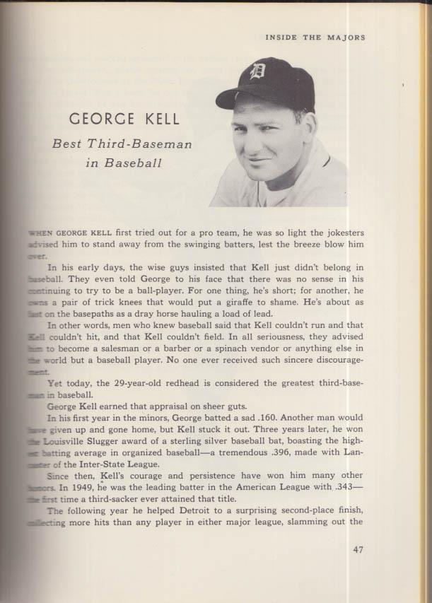 Inside the Majors 1952 Annual: Ted Williams Musial Feller Robinson Berra Rizzuto