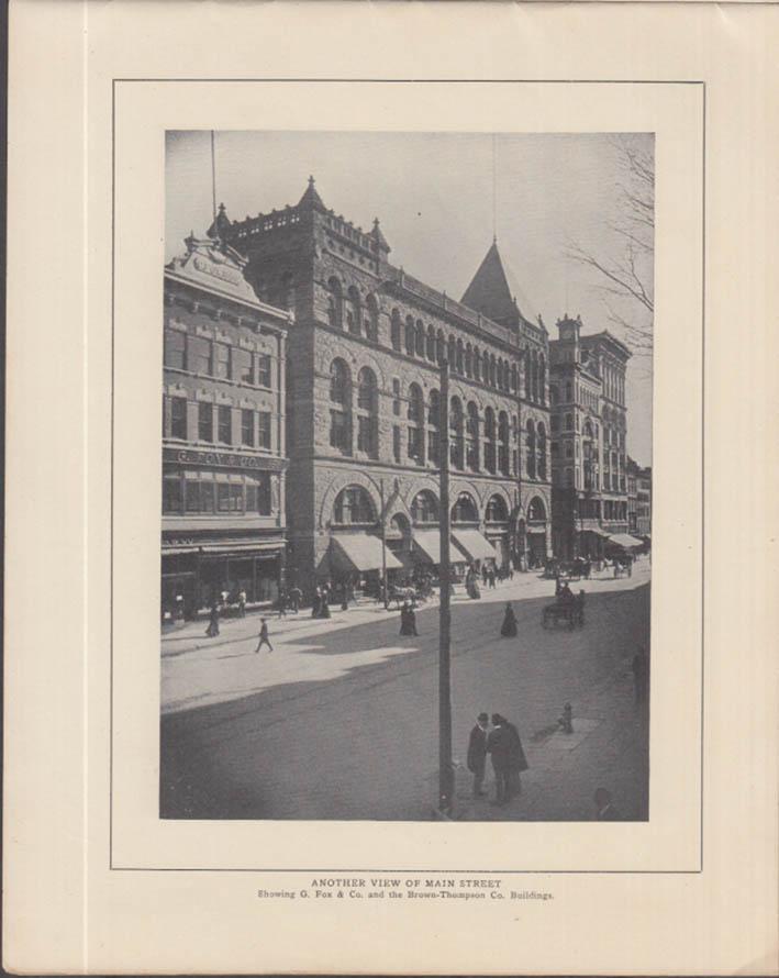Hartford Connecticut View Book ca 1910 parks buildings bridge streets +