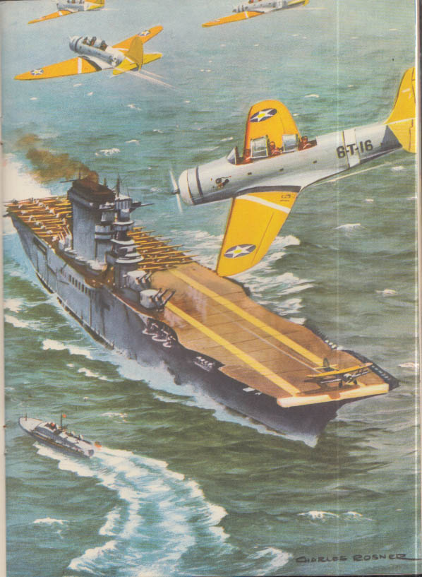 U S Navy in Action! Children's picture book 1941 1942 Charles Rosen