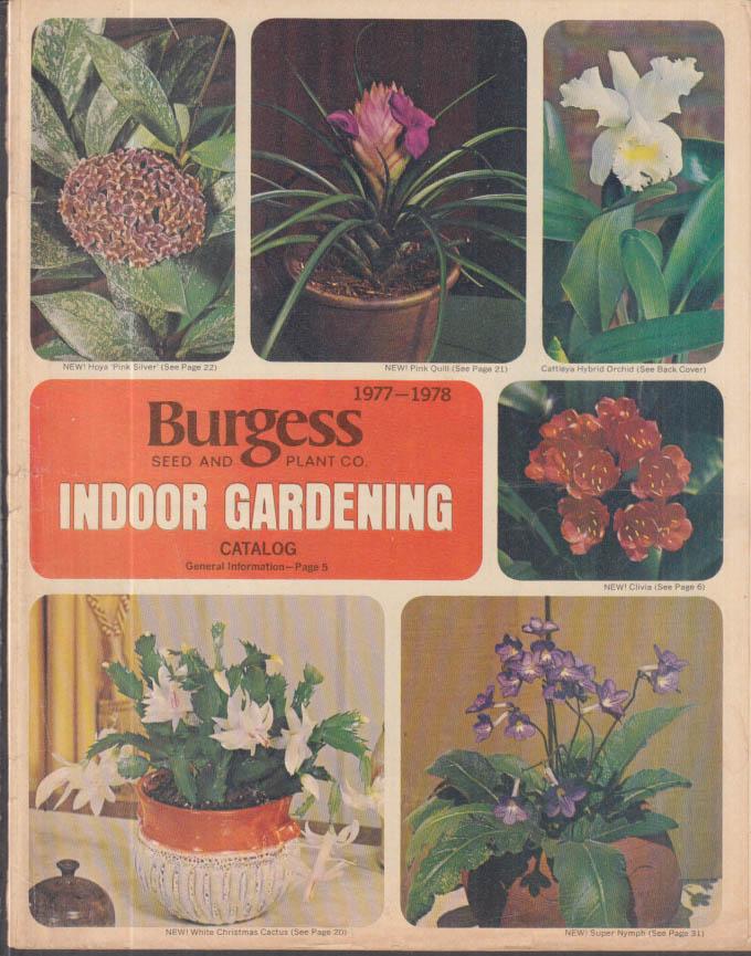 Burgess Seed & Plant Indoor Gardening Catalog 1977-1978