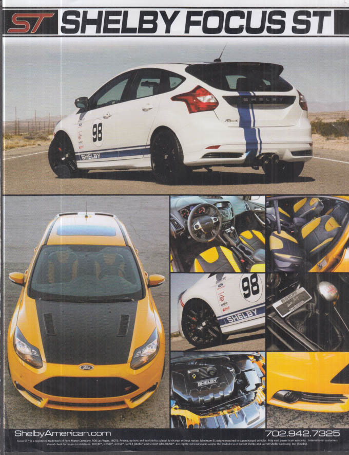 2013-2014 Shelby Ford Focus ST fact sheet Shelby American