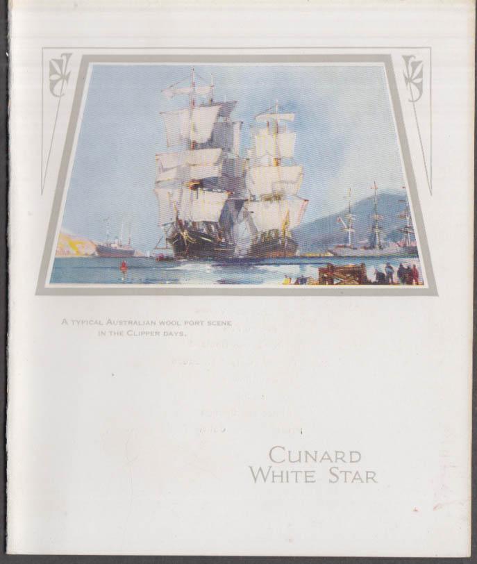 Cunard White Star R M S Franconia Tourist Class Dinner Menu 7/1 1936