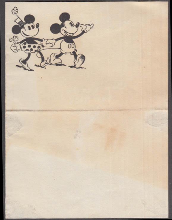 Minnie & Mickey Mouse notepaper ca 1930s Ub Iwerks-era