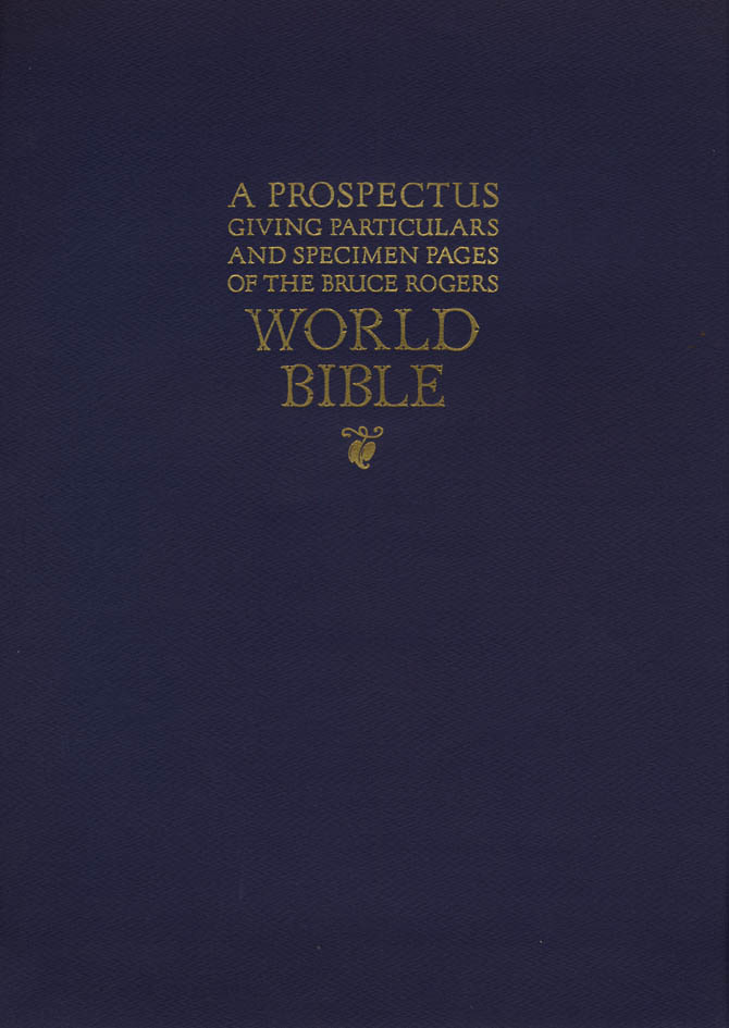 Image for Bruce Rogers World Bible Prospectus 1949 w/ order form 1st issue