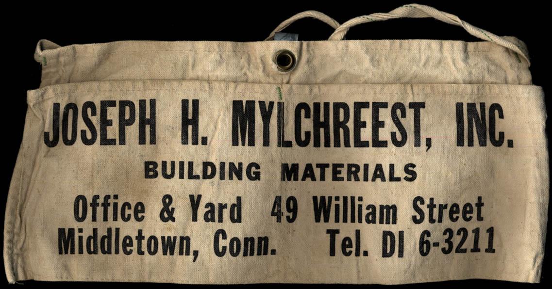 Image for Joseph H Mylchreest Building Materials Middletown CT carpenter's cloth apron
