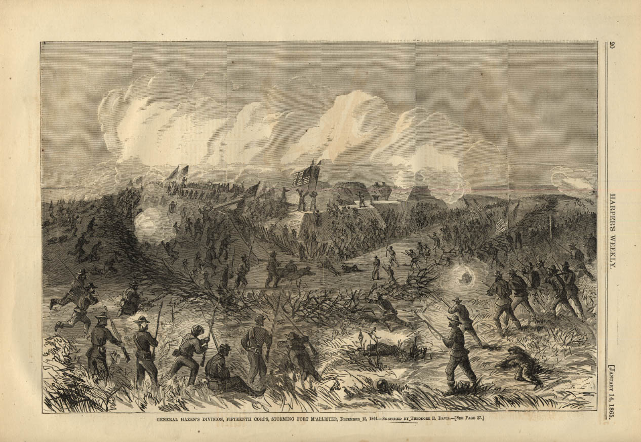 Image for HARPER'S WEEKLY page 1/14 1865 Hazen Division 15th Corps storm Fort McAllister