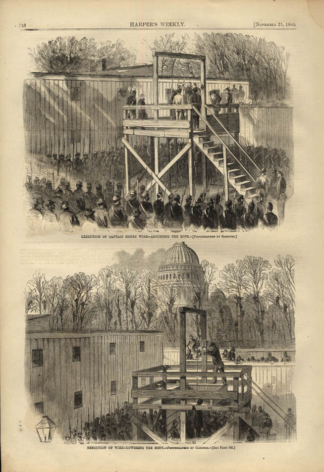 Image for HARPER'S WEEKLY page 11/25 1865 Henry Wirz of Andersonville executed