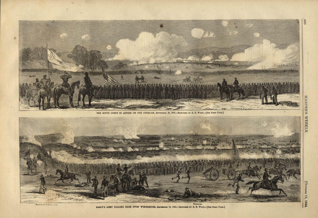Image for HARPER'S WEEKLY page 10/15 1864 6th Corps at Opequan; Early's Army at Winchester