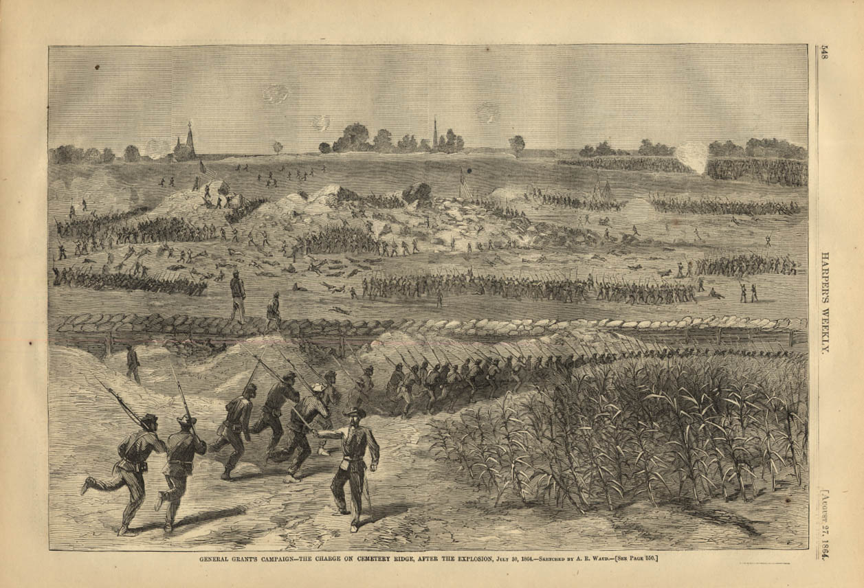 Image for HARPER'S WEEKLY page 8/27 1864 Grant Campaign Charge at Cemetery Ridge