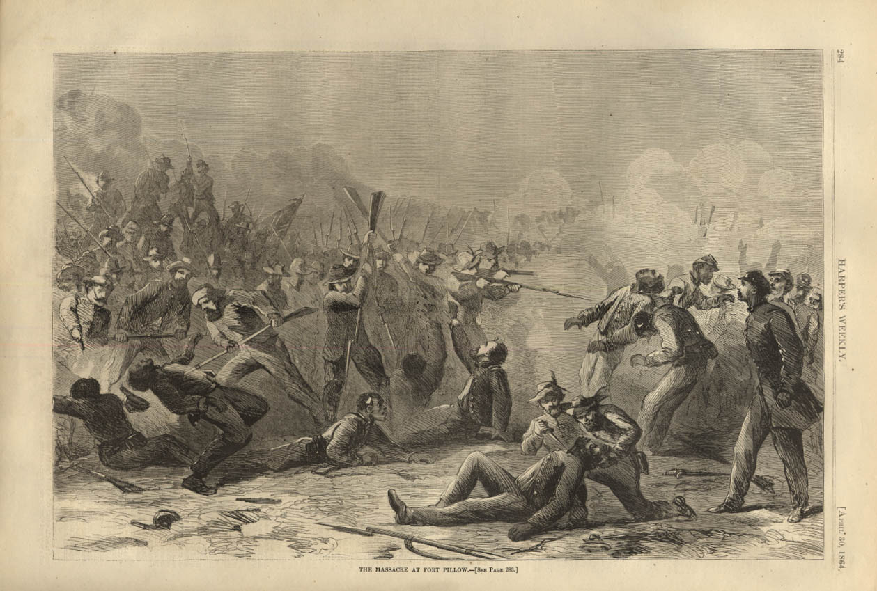 Image for HARPER'S WEEKLY page 4/30 1864 Rebel Gen Forrest's Massacre at Fort Pillow