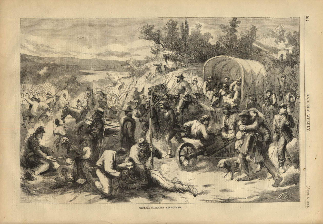 Image for HARPER'S WEEKLY page 4/2 1864 General Sherman's Read Guard with Negroes