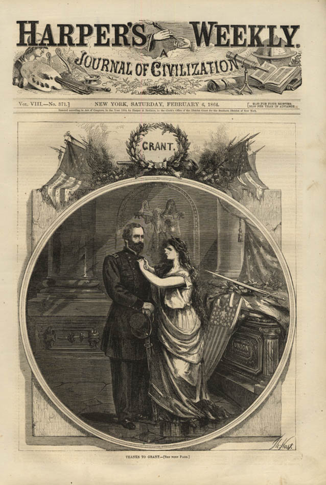 Image for HARPER'S WEEKLY page 2/6 1864 Thanks to General Ulysses S Grant