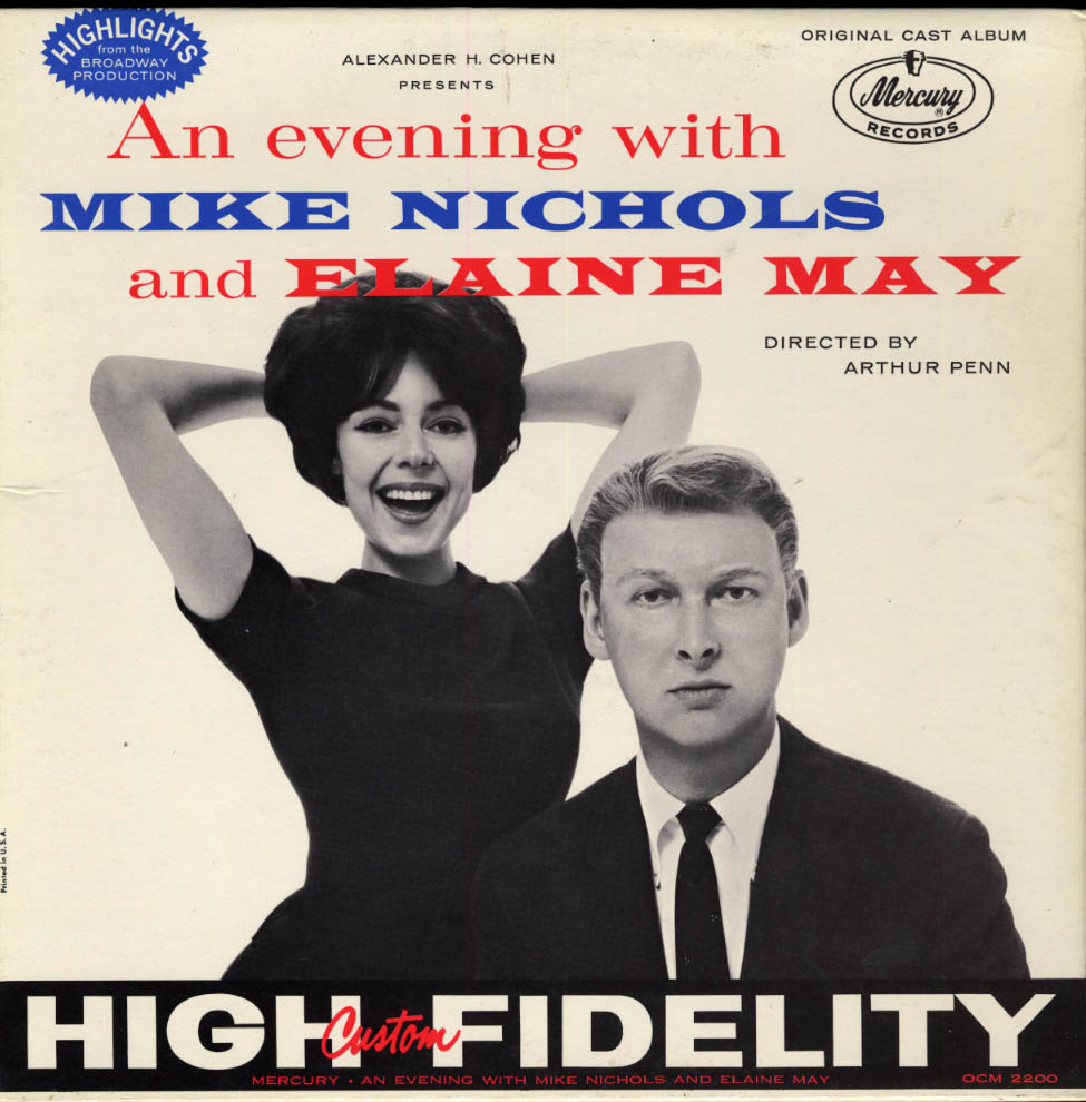 An Evening with Mike Nichols & Elaine May Mercury LP 1960 Avedon photography