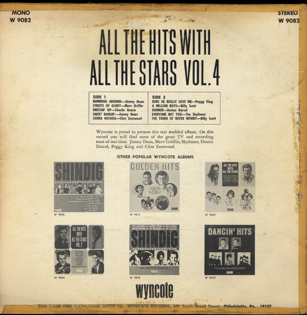 Image for Wyncote All the Hits All the Stars Volume 4 Clint Eastwood Merv Griffin + 1965