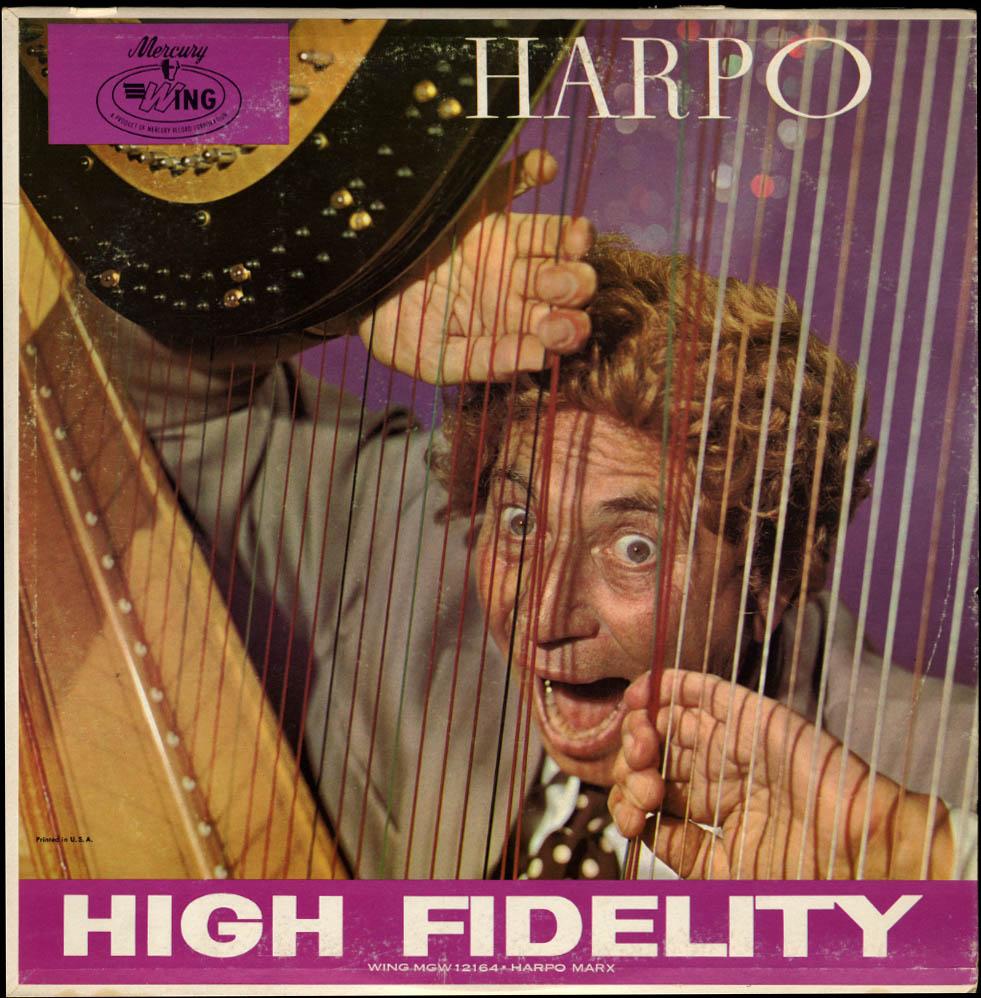 HARPO: Harpo Marx plays the Harp Mercury Wing LP MGW 12164 1964