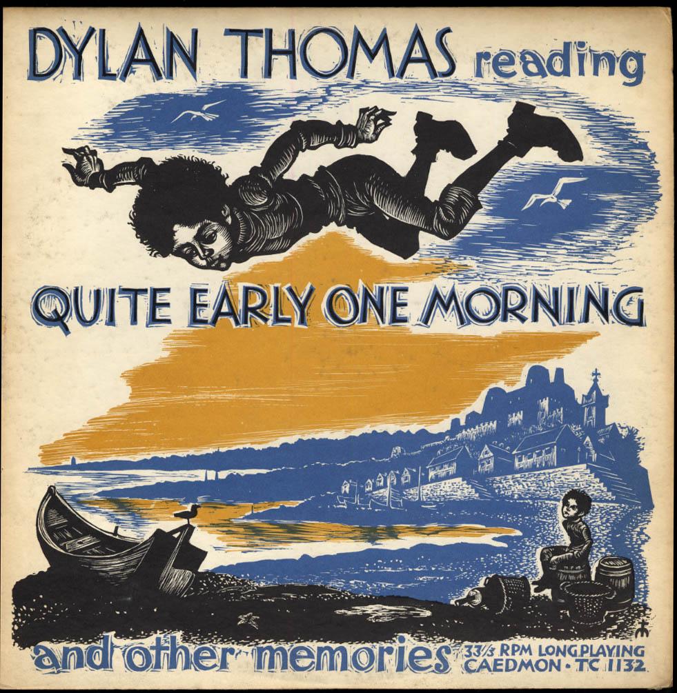 Dylan Thomas reading Quite Early One Morning Caedmon LP TC1132 1960