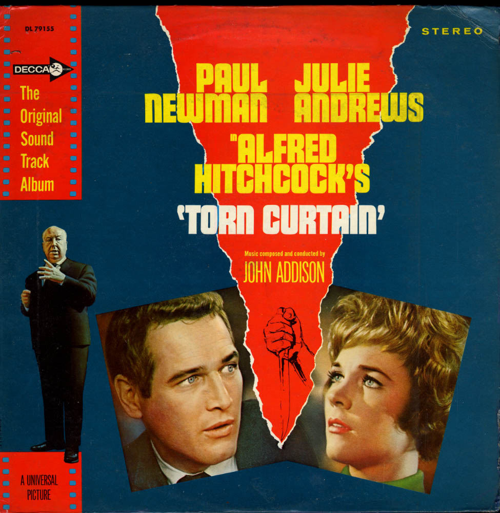 Hitchcock's Torn Curtain Sound Track Stereo LP DL 79155 Paul Newman 1966