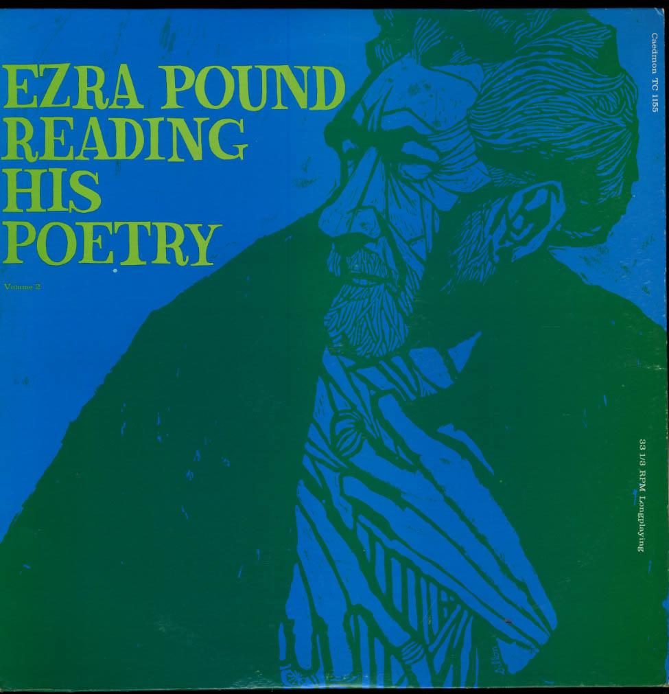 Ezra Pound Reading His Poetry Volume 2 Caedmon TC 1155 1962