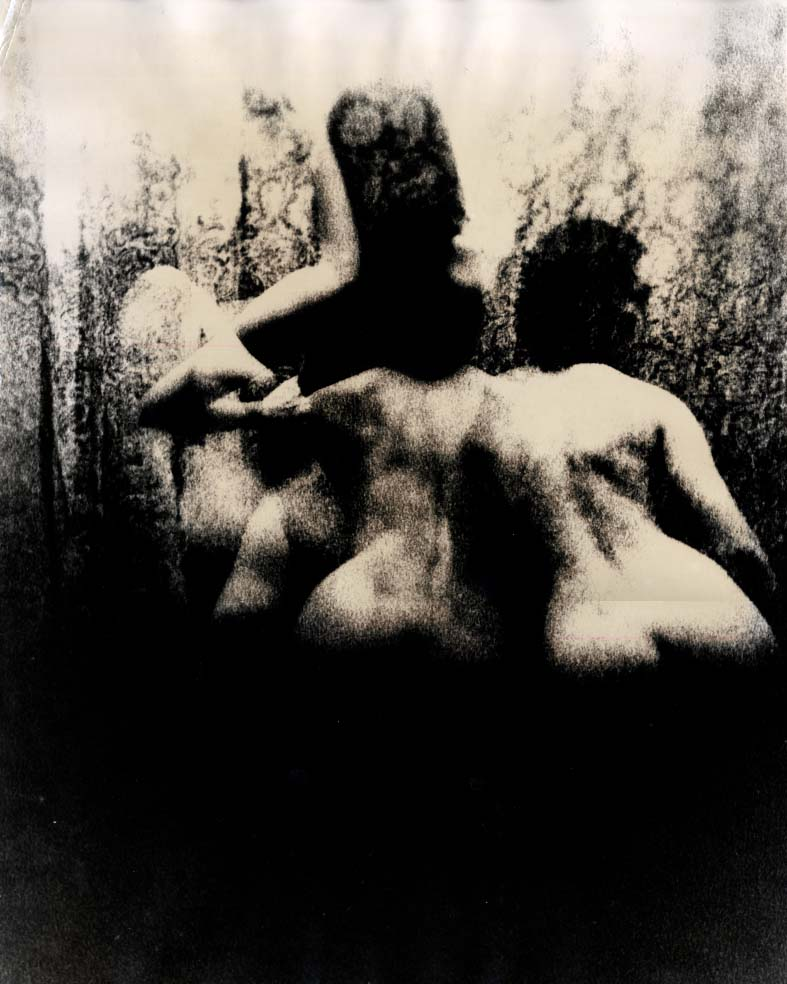 """Image for ORIGINAL Gene Szafran 16x20"""" photo three nudes 2 from behind ca 1980s"""