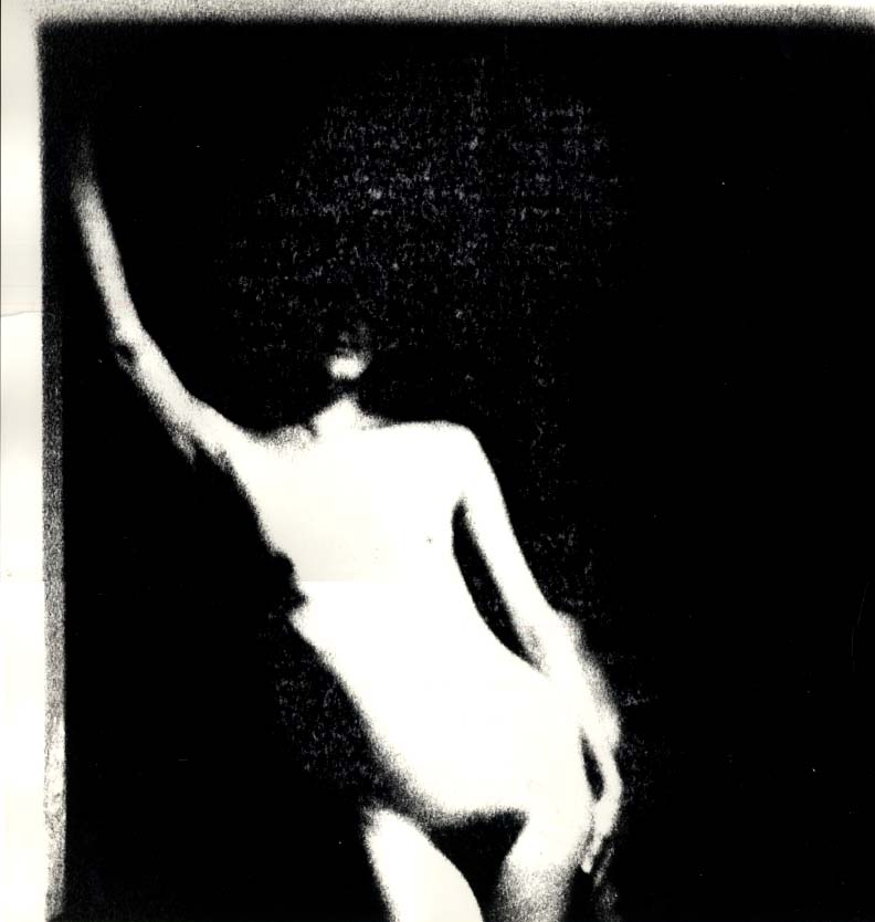 """Image for ORIGINAL Gene Szafran 16x20"""" photo Frontal nude face in shadow ca 1980s"""