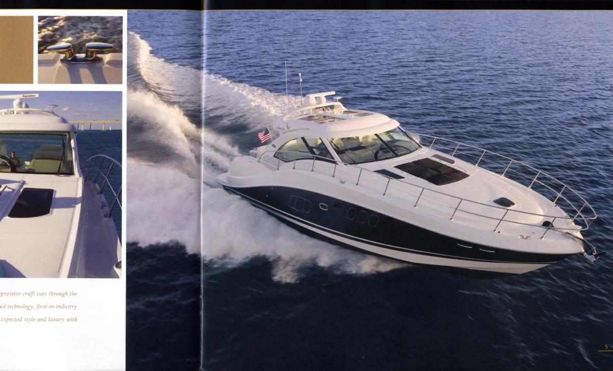 2007 Sea Ray Yachts 55 Sundancer sales brochure