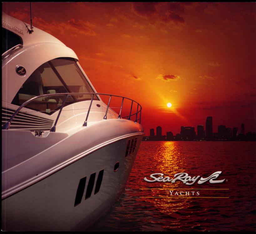 2007 Sea Ray Yachts sales brochure 52 & 60 Sundancer 52 & 58 Sedan Bridge