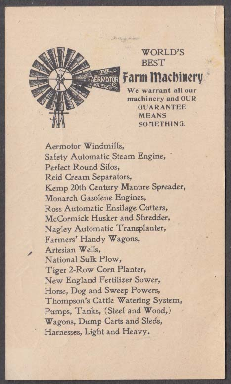 Image for Wm Crane the Silo Man business card B L Bragg Springfield MA c 1900 Steam Engine