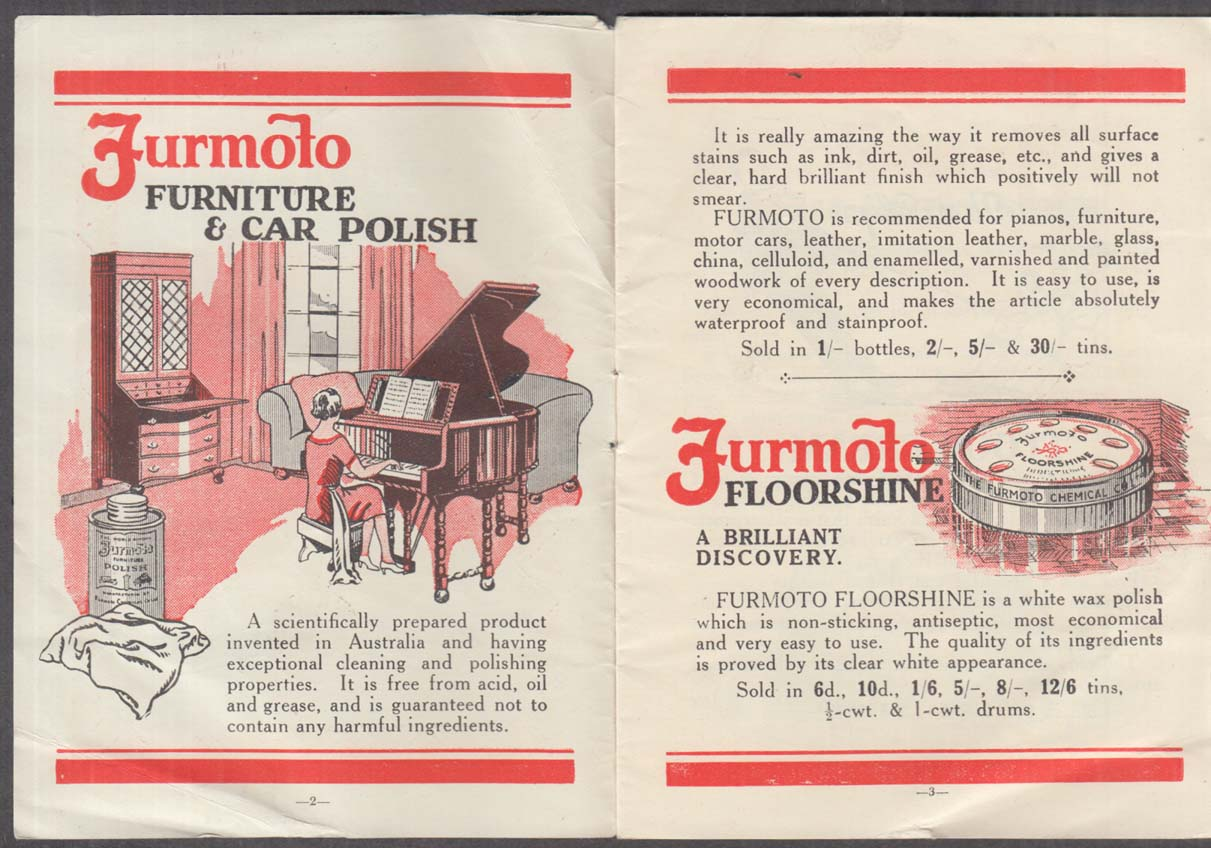 Image for Furmoto Chemical Co Polishes Cleaners brochure Century of Progress 1933