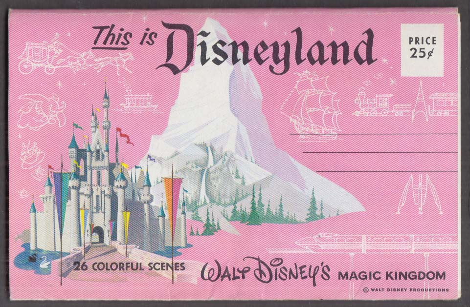 Greetings from Disneyland 26-view mailer wrapper ca 1950s