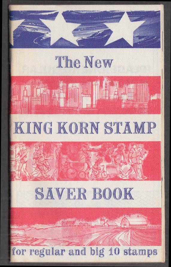 Image for New King Korn Trading Stamp Saver Book for Regular & Big 10 Stamps 1969