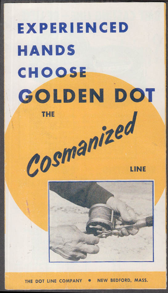 Experienced Hands Chose Golden Dot Cosmanized Fishing Line folder 1950s