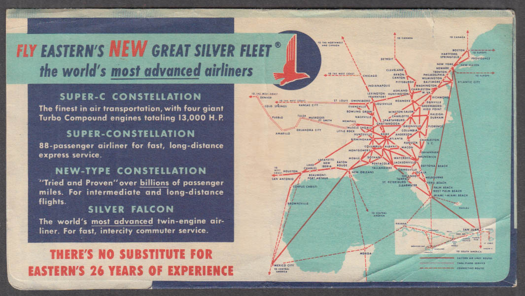 Image for Eastern Air Lines flown ticket envelope Constellation ca 1952