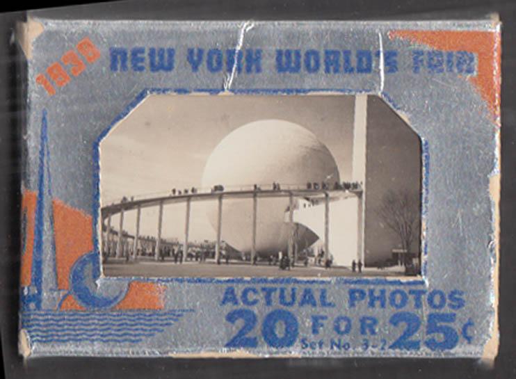 1939 New York World's Fair 20 Real Photo packet Set 3-2 Underwood & Underwood