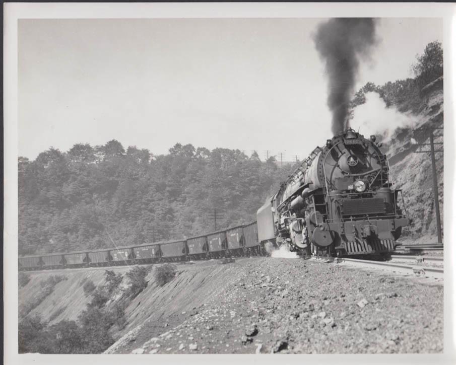 Image for Baltimore & Ohio RR 2-8-8-4 locomotive #7602 heading a coal drag photo