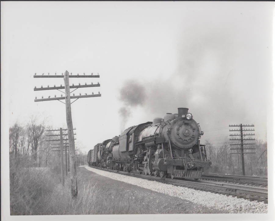 Baltimore & Ohio RR double-header freight 2-8-2 #4836 at head photo