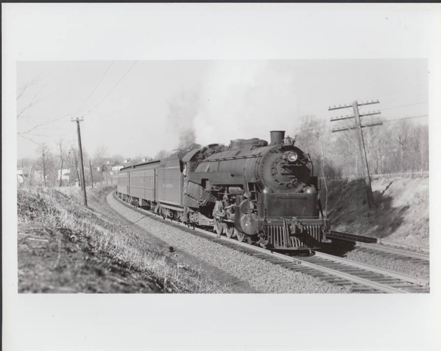 Reading Railroad 4-6-2 #200 heading a passenger train photo undated