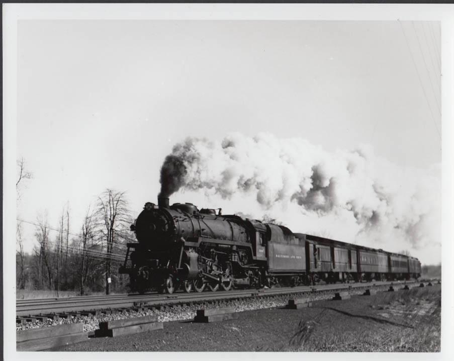 Baltimore & Ohio Baldwin 4-6-2 #5306 passenger train photo undated
