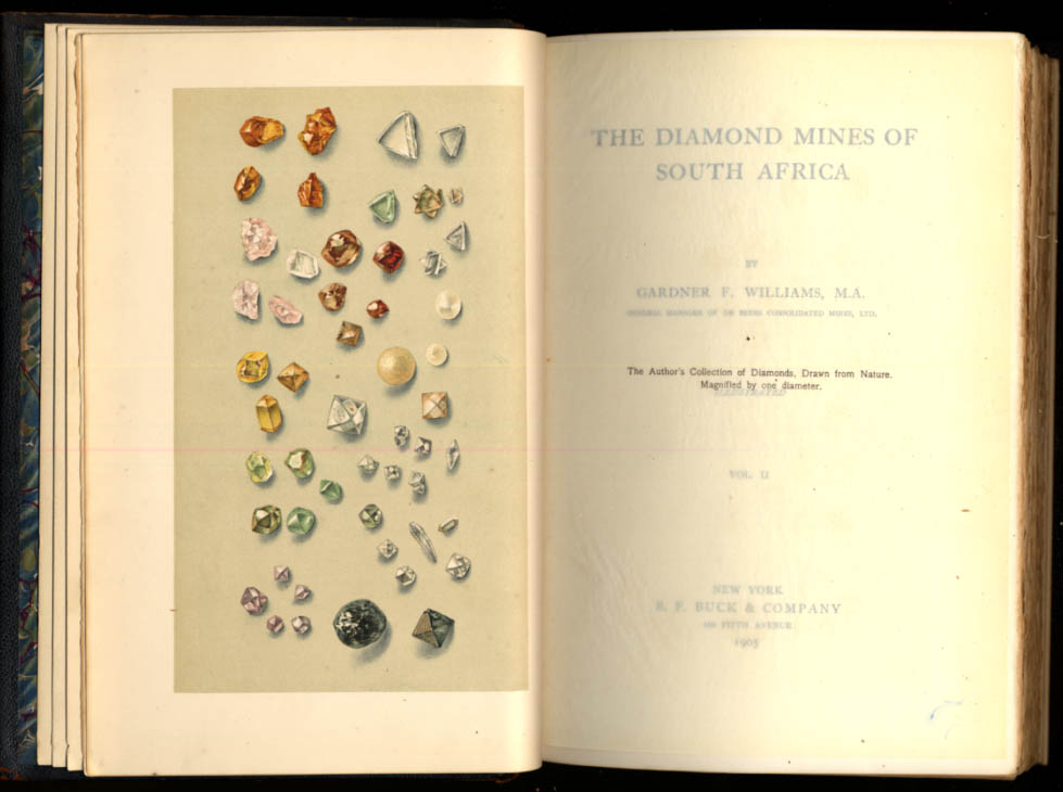 Image for SIGNED: Gardner F Williams: Diamond Mines of South Africa 1905 revised edition