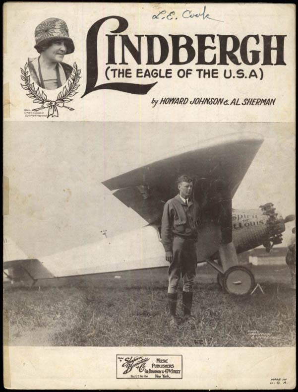 Lindbergh The Eagle of the USA sheet music 1927